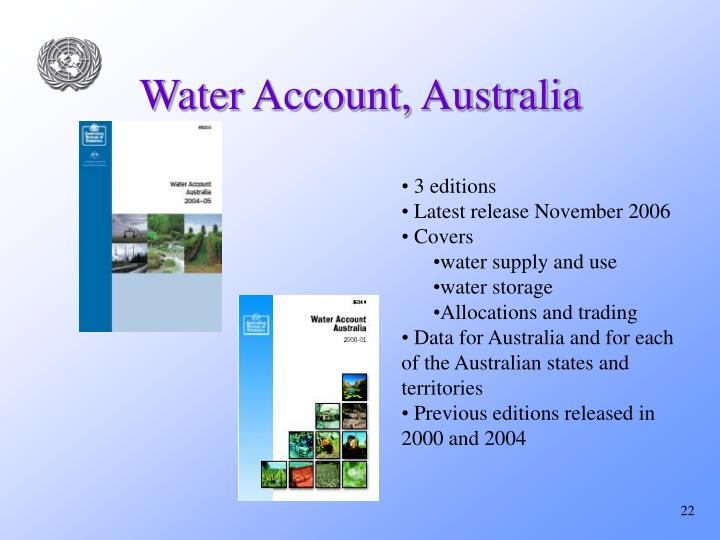 Water Account, Australia