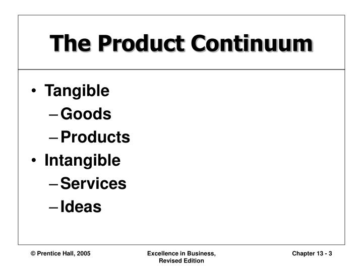 The product continuum