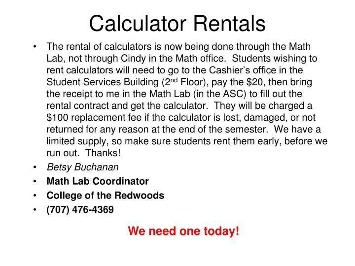 Calculator Rentals