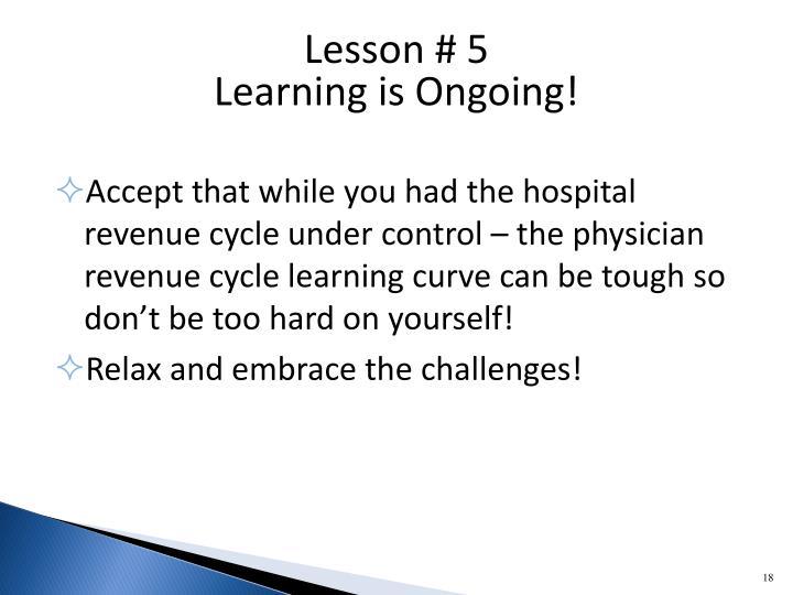 Lesson # 5