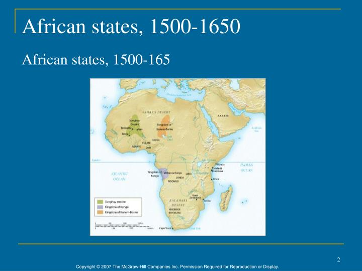 African states, 1500-1650