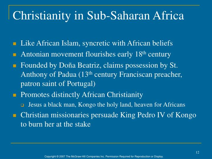 Christianity in Sub-Saharan Africa