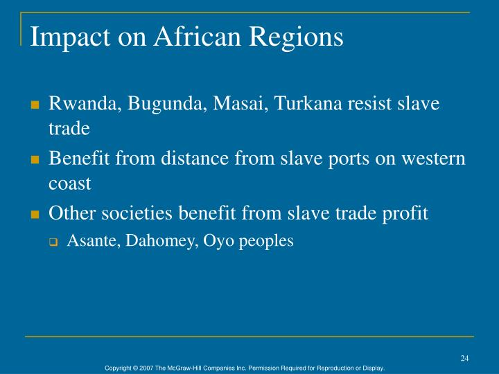 Impact on African Regions