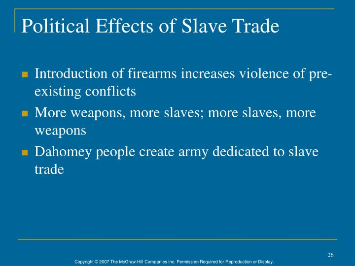 Political Effects of Slave Trade