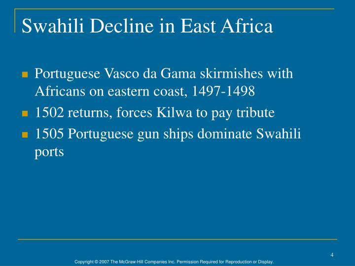 Swahili Decline in East Africa