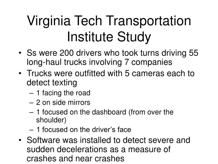 Virginia Tech Transportation Institute Study
