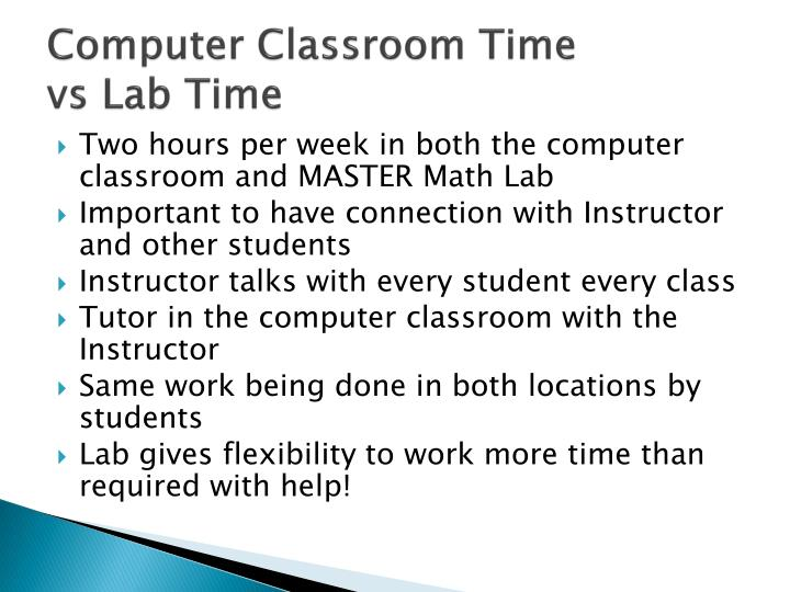 Computer Classroom Time