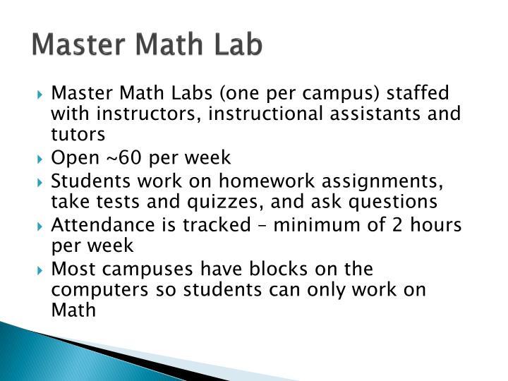 Master Math Lab