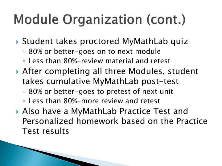 Module Organization (cont.)