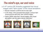 the mind s eye ear and voice