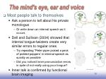 the mind s eye ear and voice2