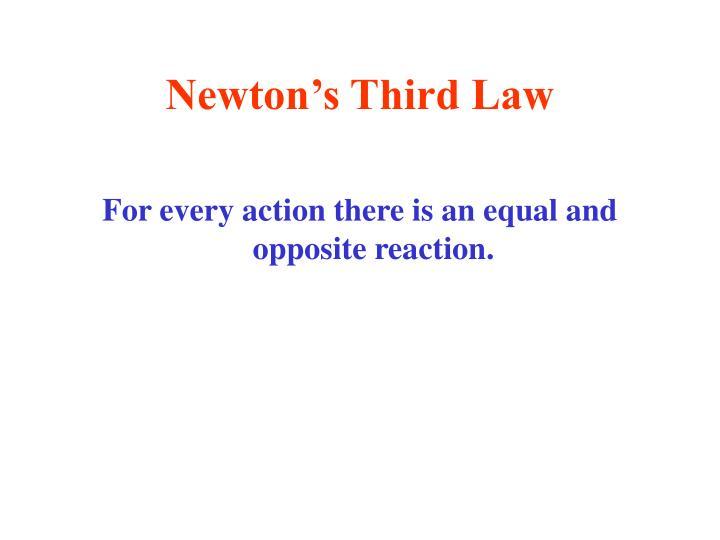 Newton's Third Law