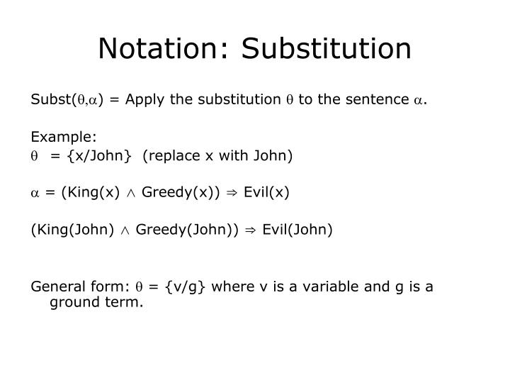 Notation: Substitution