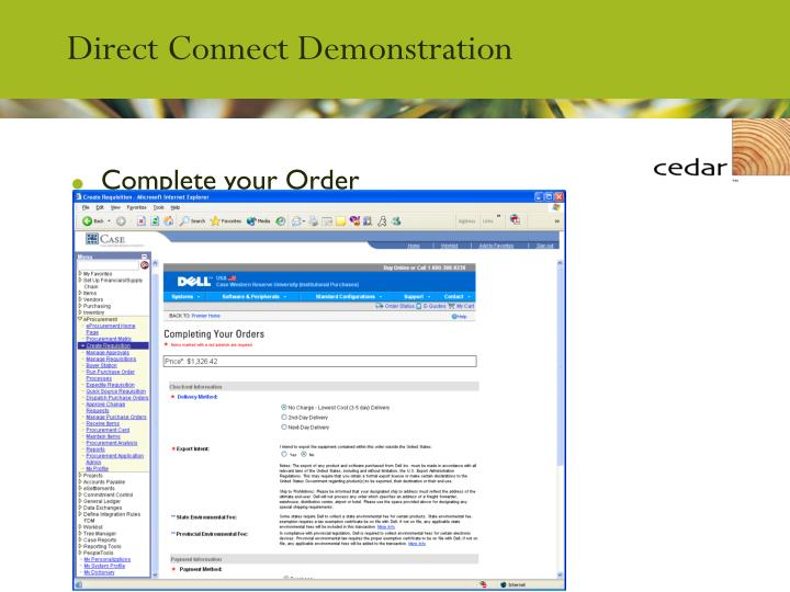 Direct Connect Demonstration