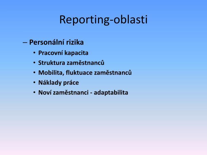 Reporting-oblasti