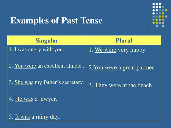 Examples of Past Tense