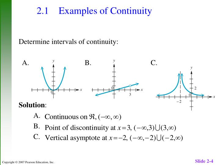 2.1 	Examples of Continuity