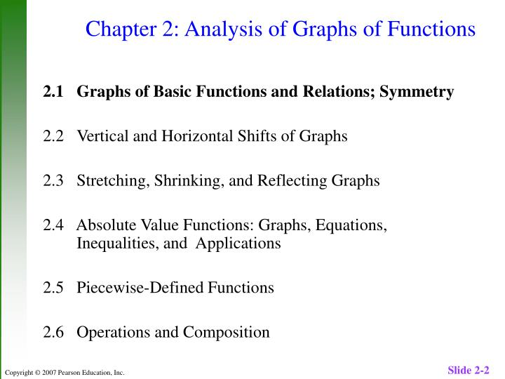 Chapter 2 analysis of graphs of functions