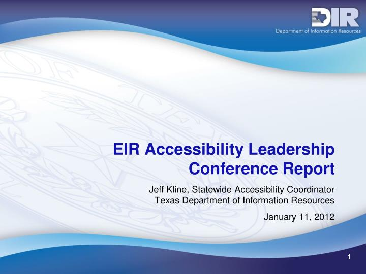 Eir accessibility leadership conference report