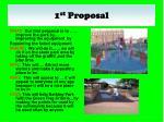 1 st proposal