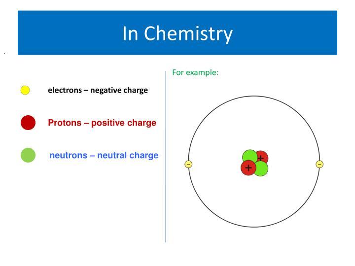 In Chemistry