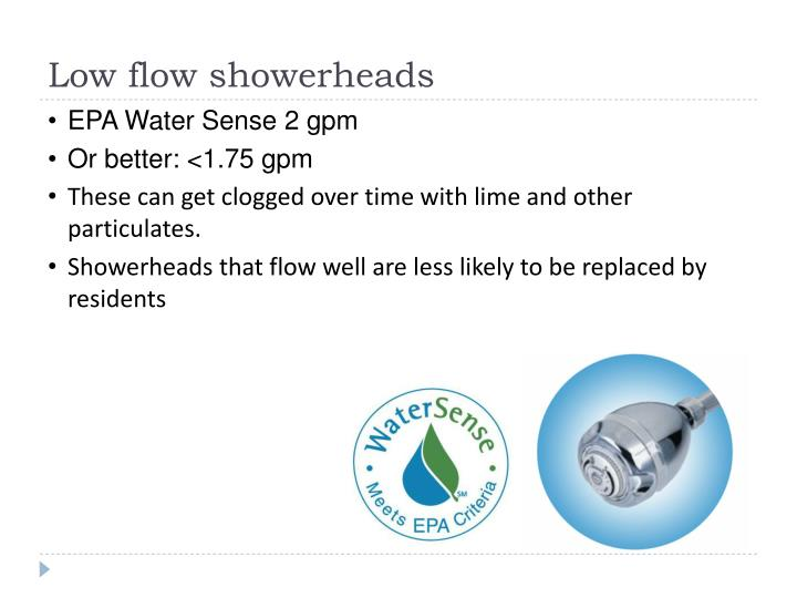 Low flow showerheads