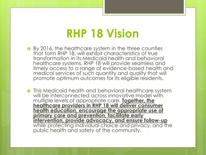RHP 18 Vision