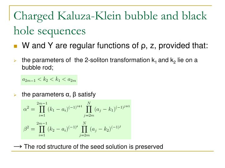 Charged Kaluza-Klein bubble and black hole sequences