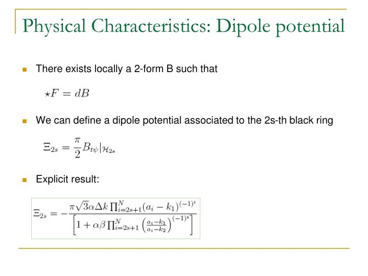 Physical Characteristics: Dipole potential