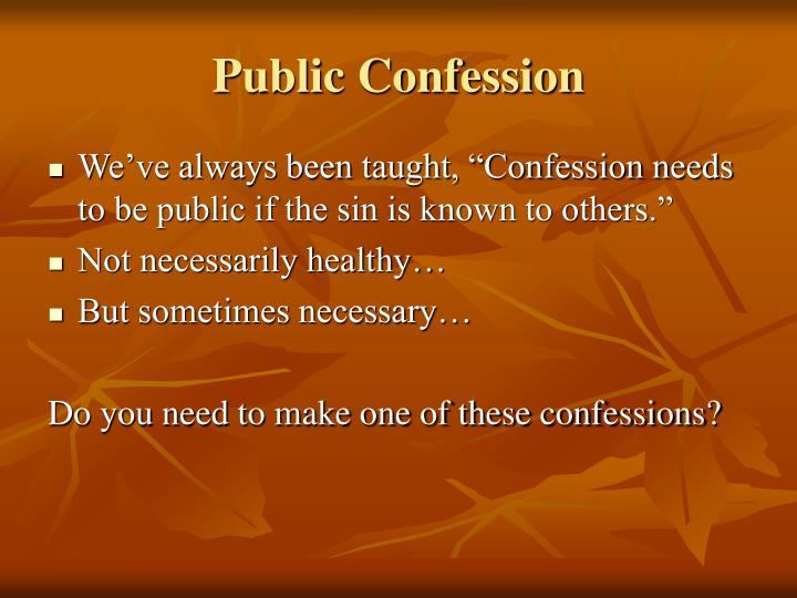 Public Confession