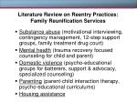 literature review on reentry practices family reunification services