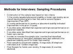 methods for interviews sampling procedures