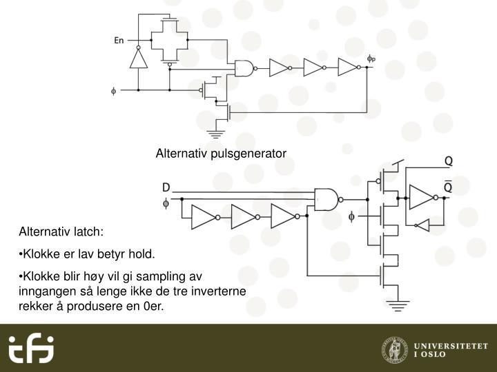 Alternativ pulsgenerator