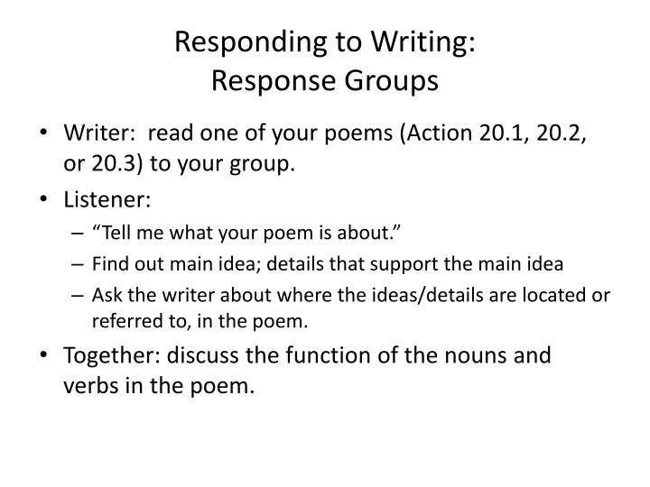 Responding to Writing: