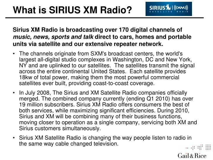 What is XM Radio?