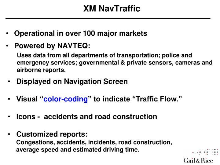 XM NavTraffic