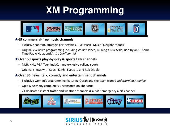 XM Programming