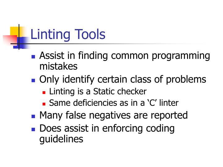 Linting Tools