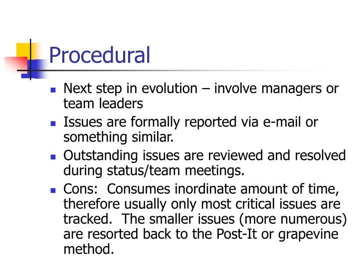 Procedural