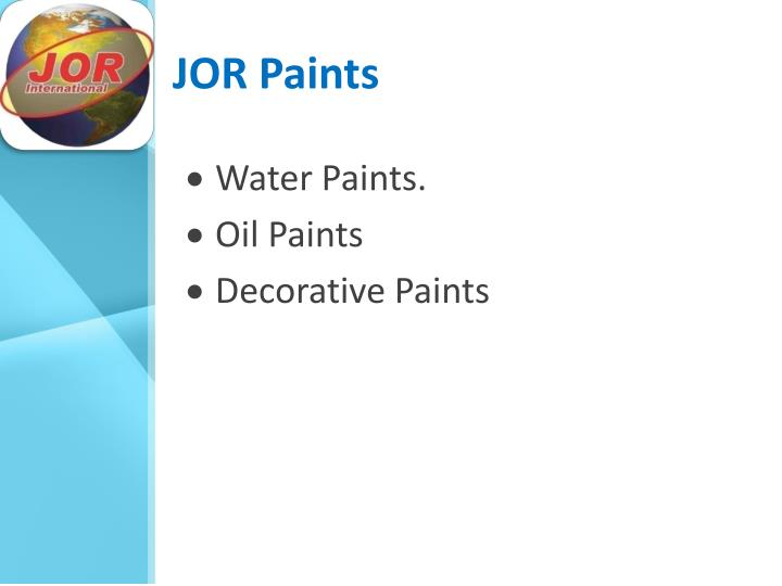 JOR Paints