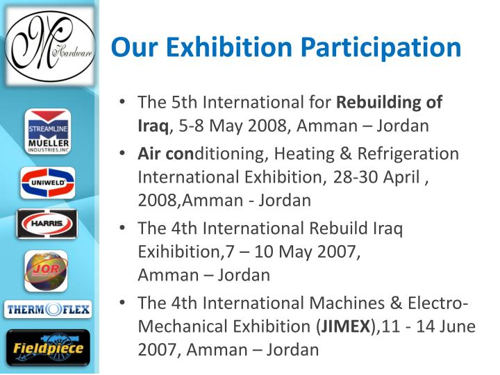 Our Exhibition Participation