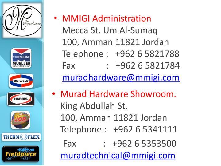 MMIGI Administration
