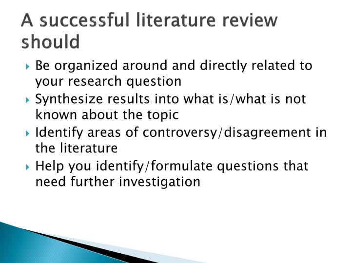 formulating a research question for literature review Research questions for literature reviews why a literature review characteristics of a good research question for a literature review.