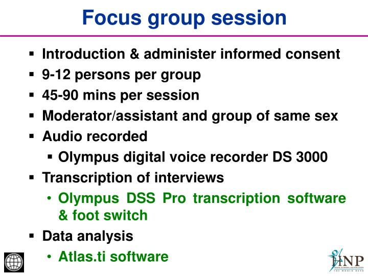 Focus group session