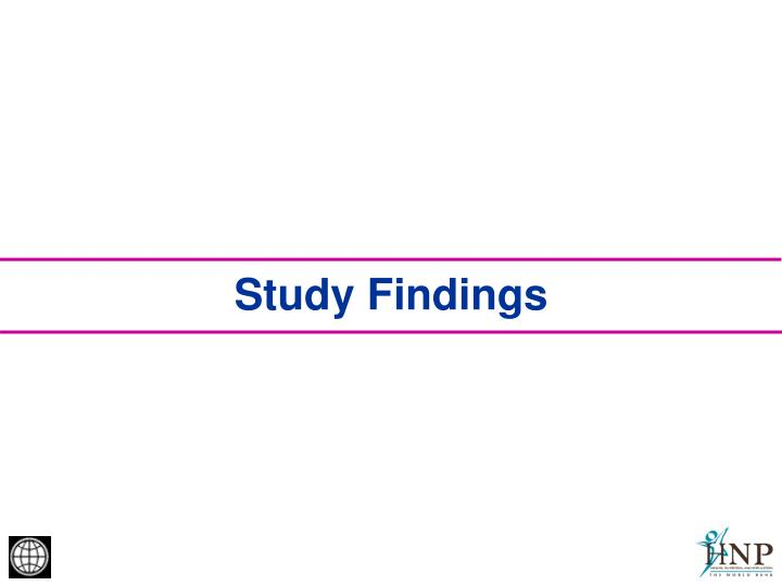 Study Findings