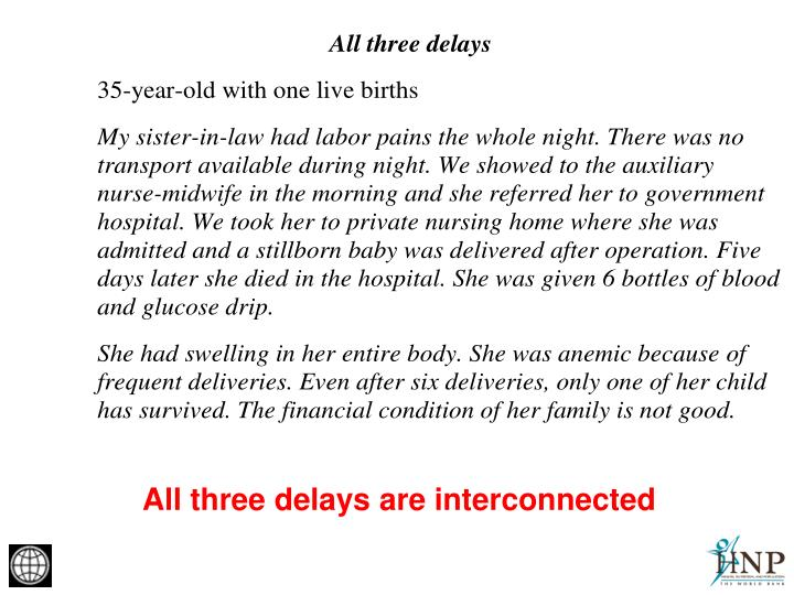 All three delays are interconnected