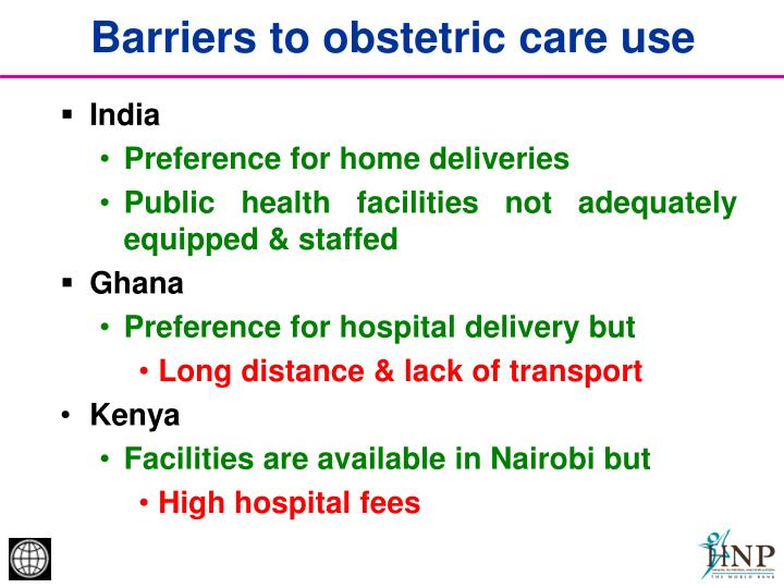 Barriers to obstetric care use