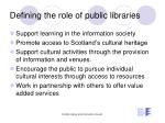 defining the role of public libraries1