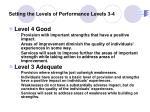 setting the levels of performance levels 3 4