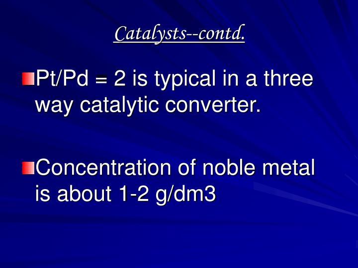Catalysts--contd.